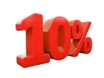Rotes Prozent-Zeichen lokalisiert Lizenzfreie Stockbilder