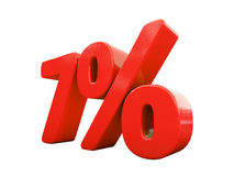 Rotes Prozent-Zeichen lokalisiert Lizenzfreies Stockbild