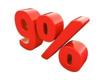 Rotes Prozent-Zeichen lokalisiert Stockfotografie