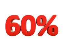 Rotes Prozent-Zeichen lokalisiert Stockfoto
