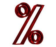 Rotes Prozentzeichen Stockbild