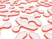 Rotes Puzzlespiel Stockfoto