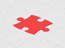 Rotes Puzzlespiel Stockbilder