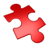 Rotes Puzzlespiel Lizenzfreie Stockfotos