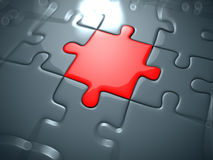 Rotes Puzzlespiel stock abbildung