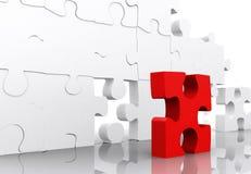 Rotes Puzzlespiel Lizenzfreies Stockfoto