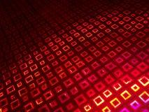 Rotes Quadrat Stockfotografie