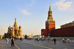 Rotes Quadrat in Moskau stockfotos