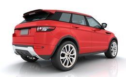 Rotes Range Rover Stockbilder