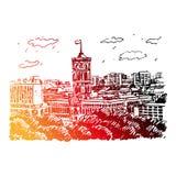 Rotes Rathaus (红色香港大会堂),柏林,德国 库存例证