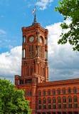 Rotes Rathaus in Berlin, Deutschland stockbild