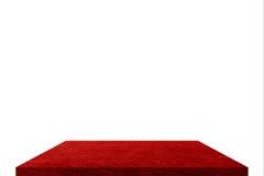 Rotes Regal auf Isolat Stockfotografie
