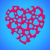 Rotes reizendes Herz Stockfotos