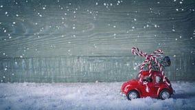 Rotes Retro- Auto Stockfoto