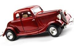 Rotes Retro- Auto Stockbild