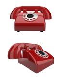 Rotes Retro- Telefon vektor abbildung
