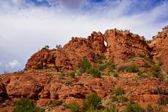 Rotes Rock sedona einzigartige Steinbildung stockbilder