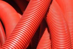Rotes Rohr Stockbild