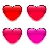 Rotes rosa Glasherz Stockfotos