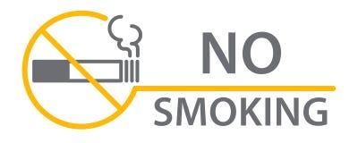 Rotes rundes Nichtraucherzeichen Lizenzfreies Stockfoto