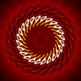 Rotes Sägeblatt stockbild