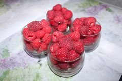 Rotes süßes geschmackvolles Lebensmittel der saftigen Beeren Stockfotos