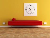 samtsofa und borduhr stock abbildung illustration von. Black Bedroom Furniture Sets. Home Design Ideas