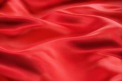 Rotes Satin-Gewebe Stockbild