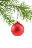 Rotes Satin-Kugel-Weihnachten Ornam Lizenzfreie Stockbilder
