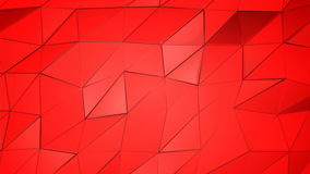 Rotes Scharlachrot abstrakter Animationspolyhintergrund stock footage