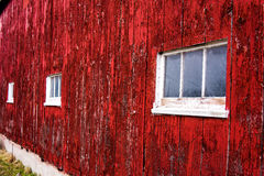 Rotes Scheunen-Wand-Abstellgleis Lizenzfreie Stockfotografie