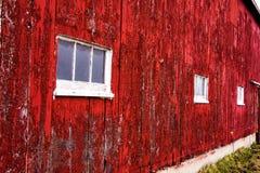 Rotes Scheunen-Wand-Abstellgleis Lizenzfreies Stockfoto
