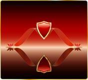Rotes Schild mit Spiegel lizenzfreie abbildung