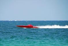 Rotes Schnellboot lizenzfreies stockfoto