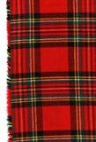 Rotes schottisches Plaid stockbilder
