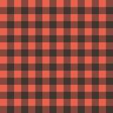 Rotes Schwarzes überprüfte Tischdecke Stockbild