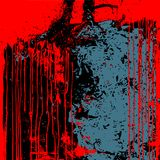 Rotes schwarzes Blau des Schmutzhintergrundes lokalisiert stock abbildung