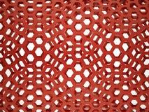 Rotes Sechseckgeflecht stock abbildung