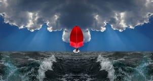 Rotes Segel Stockbilder