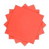 Rotes Seidenpapier Stockfoto