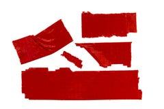 Rotes selbsthaftendes Kreppband Lizenzfreie Stockfotografie