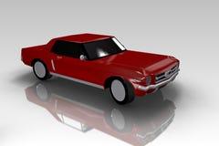 Rotes Siebzigerjahre Auto auf grauem Hintergrund lizenzfreie abbildung