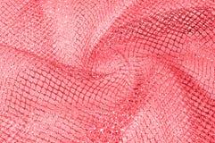 rotes silbernes Maschengewebe, mit einem gesponnenen metallischen Thread feiern s vektor abbildung