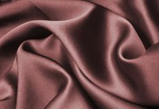 Rotes silk Farbband Lizenzfreie Stockfotos
