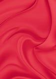 Rotes silk Material Stockfotografie