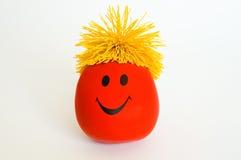 Rotes smiley-Gesicht Stockfotografie
