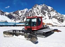 Rotes snowcat Stockfotografie