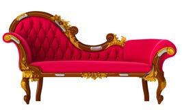 Rotes Sofa Lizenzfreies Stockfoto