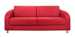 Rotes Sofa Stockfotos