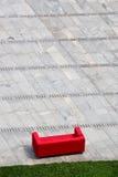 Rotes Sofa stockfoto